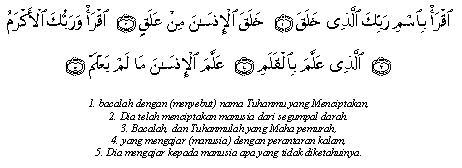 al-alaq ayat 1-5